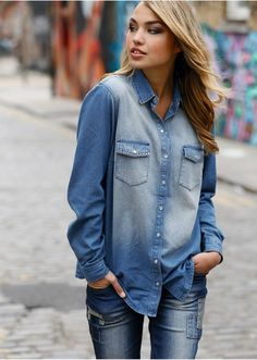 #denim #blouse #bonprix
