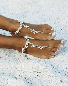 18 Beach Wedding Shoes That Inspire ❤ beach wedding shoes barefoot with rhinestones be_nelipots #weddingforward #wedding #bride Beach Wedding Shoes, Wedding Bride, Wedding Stuff, Barefoot Shoes, Bare Foot Sandals, My Style, Boho Style, Rhinestones, Boho Fashion
