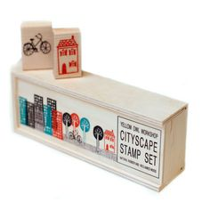 cityscape stamp set... omg, as a nerdy planner, this is so amazing