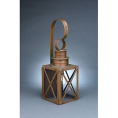Northeast Lantern Suffolk 1 Light Outdoor Wall Lantern Finish: Antique Brass, Shade Type: Clear Seedy