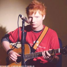 No words can describe how this is every ginger boy his age, maybe without the guitar though!