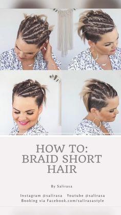 Undercut Hairstyles Women, Short Shag Hairstyles, Cute Hairstyles For Medium Hair, Medium Hair Styles, Braided Hairstyles, Short Hair Styles, How To Curl Short Hair, Braids For Short Hair, Short Hair Cuts