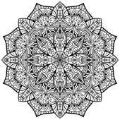 Vektor, reich verzierten Mandala auf weißem Hintergrund — Stockvektor