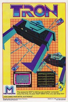 All sizes | Tron for Atari 2600 by M Network (1982) | Flickr - Photo Sharing!