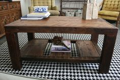 The Rustic Coffee Table Made From New Orleans by DoormanDesigns
