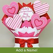 Valentine's Day Hearts Cookie Bouquet - 5 Piece