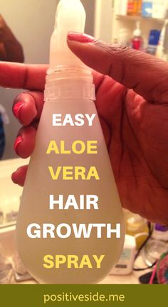 This Aloe Vera Hair Growth Spray is the perfect solution for anyone who wants to grow hair faster. Moreover, If you're struggling with thin hair or damaged hair, you have to try this spray. Diy Hair Growth Spray, Aloe Vera Gel For Hair Growth, Hair Mask For Growth, Aloe Vera For Hair, Hair Remedies For Growth, Hair Growth Tips, Hair Growth Recipes, Thinning Hair Remedies, Healthy Hair Growth
