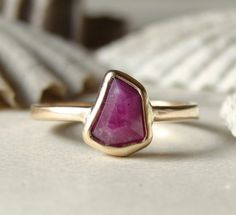 free form ruby ring - to reset my ruby