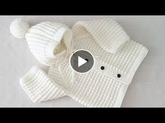 Hi friends, I want to tell you a very nice model, you will love this baby cardigan. Baby Knitting Patterns, Knitting Designs, Baby Patterns, Knitted Baby Cardigan, Crochet Jacket, Crochet Bebe, Crochet Baby Clothes, Baby Vest, Baby Sweaters