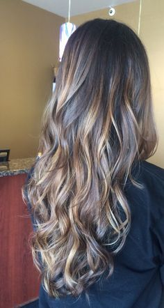 Balayage look for natural brunettes