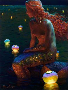 ♒ Mermaids Among Us ♒ art photography paintings of sea sirens water maidens - Victor Nizovtsev Sirens, Victor Nizovtsev, Creation Photo, Water Nymphs, Mermaids And Mermen, Fantasy Mermaids, Merfolk, Mermaid Art, Mermaid Paintings