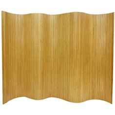 "Bamboo wave room divider available in more finishes, covers approximately 77"" of floor space"