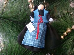 Iceland clothespin doll ORNAMENT - Black, blue dress - ready to ship Clothespin Dolls, Wooden Pegs, Iceland, Blue Dresses, Ship, Christmas Ornaments, Trending Outfits, Holiday Decor, Handmade Gifts