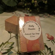 Baby Powder Natural Cold Process Salt Bar Soap 5 - texas t and t handmade soaps shop with me - Lye Soap, Pure Olive Oil, How To Make Oil, Soap Shop, Soap Maker, Baby Powder, Natural Baby, Home Made Soap, Handmade Soaps