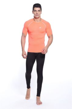 2016 Orange O-Neck Mens Tees bowling shirt orange compression wear for fitness gym training bodybuilding size Baby Outfits, Bodybuilding, Bowling Shirts, Gym Training, Autumn Activities, Mens Tees, Gym Workouts, Fitness, T Shirt