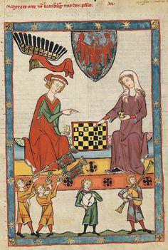 Manesse Codex - (1300 - 1340) Markgraf Otto von Brandenburg