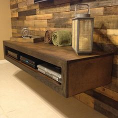 Throwback to this awesome floating entertainment unit and woodwall I made a while back ago.