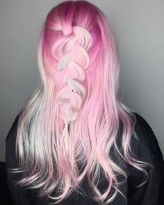 """398 Likes, 11 Comments - San Diego ☀️ Hair  Vivids ✨ (@hannahdisconnected) on Instagram: """"Pink braids are the BEST braids  ⠀ ⠀ #hannahdisconnected --@hannahdisconnected #cosmoprofbeauty…"""""""