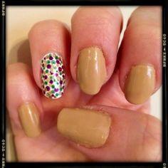 Mardi Gras King Cake nails