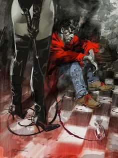 Dylan Dog by Massimo Carnevale * Comics Illustration, Illustrations, Yandere Girl, Dylan Dog, Surreal Artwork, Horror Comics, Weird Art, Pulp Art, Pictures To Draw