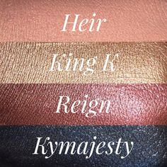 Kylie Cosmetics Metal Matte Swatches