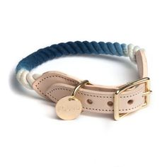 Brooklyn-Made Rope Collar for Dog and Cat in Indigo Ombre | New York States of Mind Marketplace