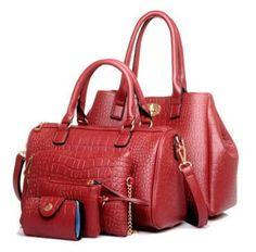 Vogue Star 2017 New 5 pcs women handbags set famous brand designer PU women bag set good quality shoulder bag women bags LS360