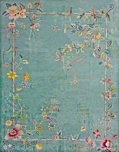 "#125 Chinese Art Deco carpet  9'0"" x 11'6""  circa 1930"