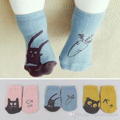 Baby Newborn Infant Cotton Boy Girl Toddler Asymmetry Anti-Slip Floor Socks BS