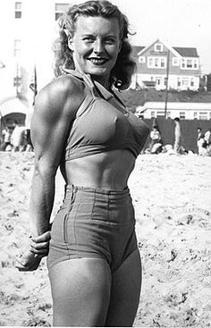 Retro women bodybuilding.