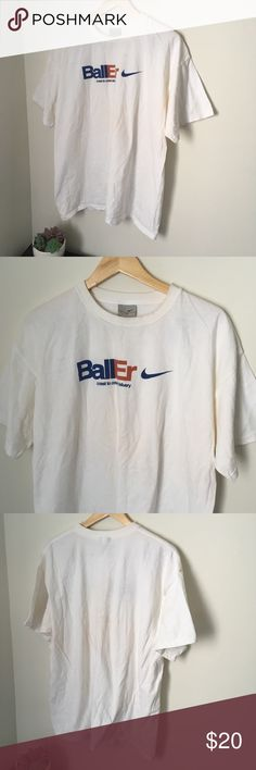 2000 white fed ex Nike tee 2000 fed ex Nike tee White blue and mustard brown Supreme condition  No stains no damages no holes  Fits perfect to size  Check out the rest of my closet   Vintage vtg retro 90s big spell out swoosh logo fedex fed-ex baller nba basketball basket ball Nike Shirts Tees - Short Sleeve