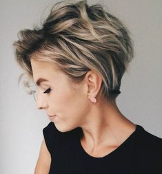 Long Pixie With Blonde Balayage For Thick Hair
