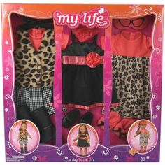 My Life As A Day in the Life Doll Clothing Set, Leopard - Walmart.com