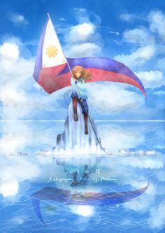 by KCGutze on DeviantArt Philippine Army, Philippine Mythology, Hetalia Philippines, Manila Philippines, Filipino Art, Telegram Stickers, Hetalia Funny, Princess Pictures, Hetalia Characters