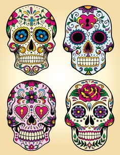 Candy Sugar Skull  Day of the Dead Dia de los by rtagraphics