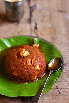 Ashoka halwa recipe with step by step photos. Today in Diwali 2016 sweets recipes series I am sharing the ever popular Tanjore/ thriuvaiyaru style Ashoka halwa recipe. Ashoka halwa recipe is made of moong dal and wheat flour. Indian Dessert Recipes, Indian Sweets, Sweets Recipes, Yummy Recipes, Paneer Masala Recipe, Vegetarian Recipes, Cooking Recipes, Healthy Sweets, Food Cravings