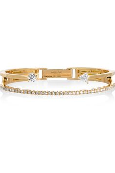 DELFINA DELETTREZ 18-karat gold diamond bracelet  €18,000.00 https://www.net-a-porter.com/products/609764