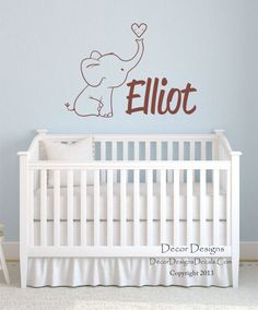 Nursery Wall Decals. Liam Name Decal With A Flying Bird Decal. Custom Made Name  Wall Decals For Boys And Girls Rooms.   1002 | Pinterest | Wall Decals, ...