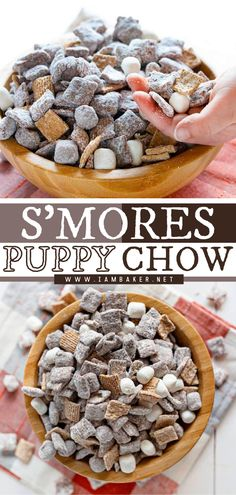 Put a fun twist on your usual Puppy Chow with this Memorial day dessert! Every bite of this S'mores Puppy Chow is filled with an amazing combination of cereals, peanut butter, chocolate, and powdered sugar. It's the best Memorial day treats! Elegant Desserts, Desserts For A Crowd, Fancy Desserts, Beautiful Desserts, Dessert Recipes, Puppy Chow, Chow Chow, Easy Impressive Dessert, Memorial Day Desserts