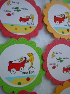 e bay Dr Seuss One Fish Two Fish Baby Shower Cupcake Toppers 12 pack Baby Boy or Girl Dr Seuss Cupcake Toppers, Dr Seuss Cupcakes, Baby Shower Cupcake Toppers, Cupcake Picks, Cupcake Ideas, One Fish Two Fish, Red Fish, Dr Seuss Baby Shower, Baby Boy Shower