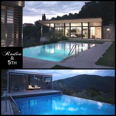 Italian architectural practice, MDU Architects, have designed the Fioravanti Poolhouse project. The luxury family property can be found in Prato, Italy. #rodeoand5th #luxury #homes #italy #pool #view