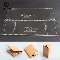 Прозрачный акриловый плексиглас Кожаный шаблон шаблон бумажника случай Leathercraft | eBay