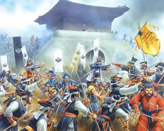 Portada de Peter Dennis para ilustrar el Osprey sobre la invasión japonesa de Corea (1592-1598) http://www.elgrancapitan.org/foro/viewtopic.php?f=21&t=16835&p=903087#p902939