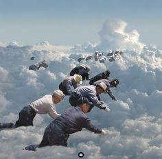 Cloud Seeding – Collage by Jeff Hendrickson