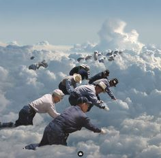Cloud Seeding – Collage by Jeff Hendrickson