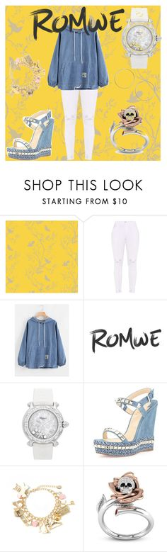 """""""Romwe"""" by akamela ❤ liked on Polyvore featuring Timorous Beasties, Chopard, Christian Louboutin and Miss Selfridge"""
