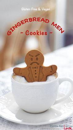 So adorable! Gluten-Free Vegan Gingerbread Men Cookies Recipe from @GFVeganLove