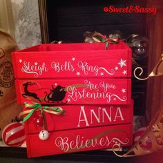 Personalised Christmas Eve Box Crate Hamper