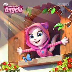 Let all the good things come in!  Click on the link in my bio to find out more about the My Talking Angela app update!  xo, Talking Angela #TalkingAngela #LittleKitties #MyTalkingAngela #app #best #game #spring #onesie #cute #love #bestapp