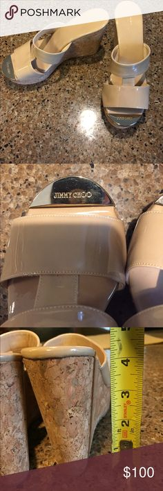 Jimmy Choo Wedges! Worn ONCE around the house! Does not come with original box. Jimmy Choo Shoes Wedges